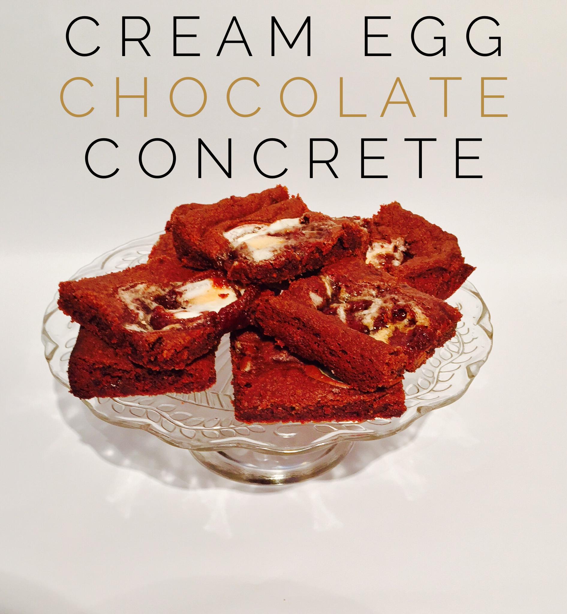 Recipe Cream Egg Chocolate Concrete Adventures In Kakeland